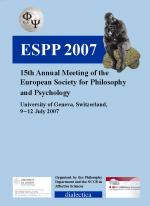 European Society for Philosophy and Psychology 15th Annual Meeting