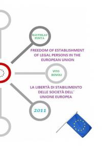 Freedom of Establishment of companies / La libertá di stabilimento delle societá dell´ UE