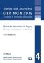 Theorie und Geschichte der Monodie - Band 4